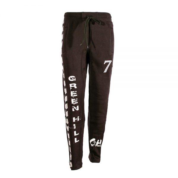 Тренировочные брюки, флис, черный с белыми надписями Green Hill
