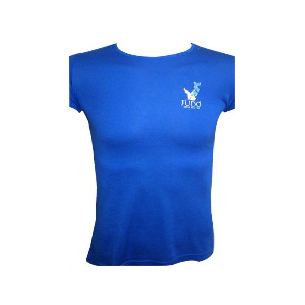 Футболка с накаткой Дзюдо NEW дизайн женская синий Green Hill