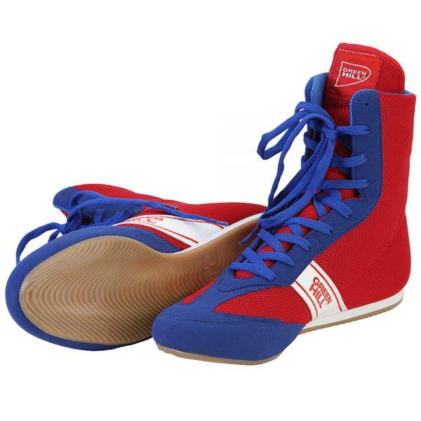 LSB-1801 Боксерки SPECIAL красно-синие Green Hill