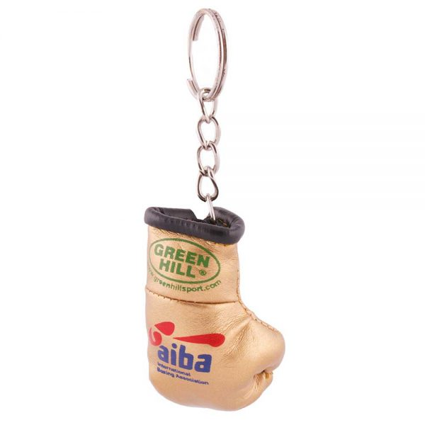 KR-1007-А Брелок сувенирный боксерская перчатка AIBA золото Green Hill