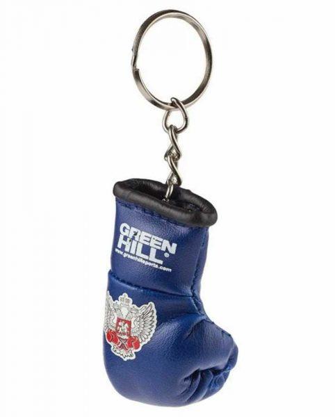 KR-1007-FBR Брелок сувенирный боксерская перчатка Федерация бокса России золотистый/серебристый/синий/красный Green Hill синий