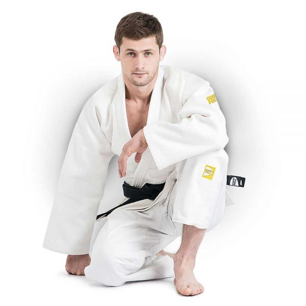 JSPT-10361 Кимоно дзюдо GOLD IJF APPROVED белое Green Hill