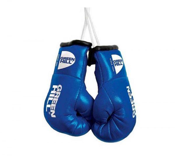 MG-1004 Сувенирные боксерские перчатки Федерация Бокса России синие/красные/черные Green Hill синие