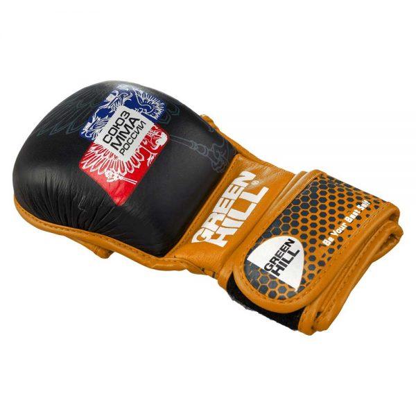 MMU-0111 Перчатки СОЮЗ MMA РОССИИ черно-красные/синие/оранжевые Green Hill