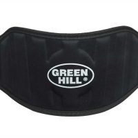 WLB-6732A Пояс тяжелоатлетический черный тканевый Green Hill