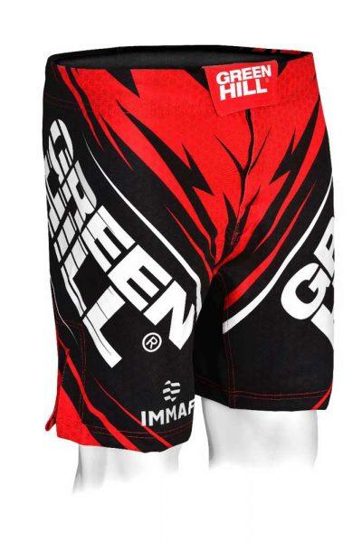 MMi-3922w Шорты для MMA IMMAF approved женские красные Green Hill