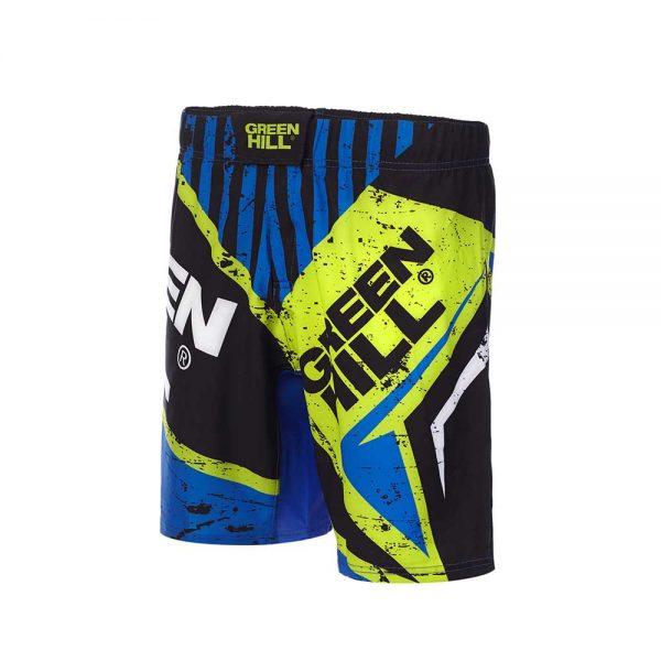MMS-3851 Шорты для MMA черно-синие Green Hill