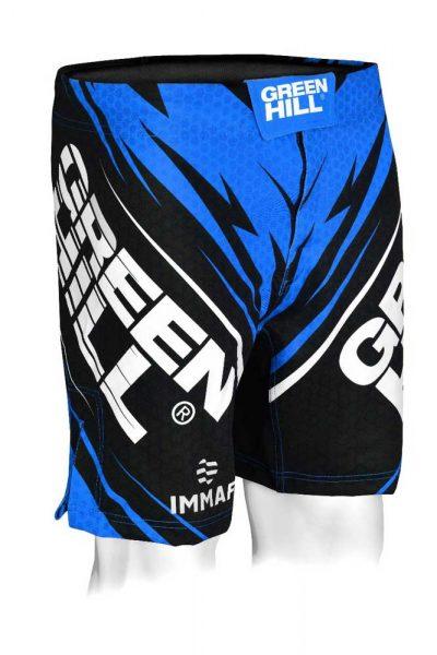MMi-3922w Шорты для MMA IMMAF approved женские синие Green Hill