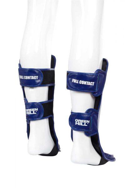 SIP-2505 Защита голень-стопа FULL CONTACT одобренная ФКР синяя Green Hill