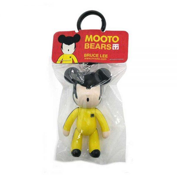 15340 Брелок MOOTO Bears Bruce Lee желто-черный