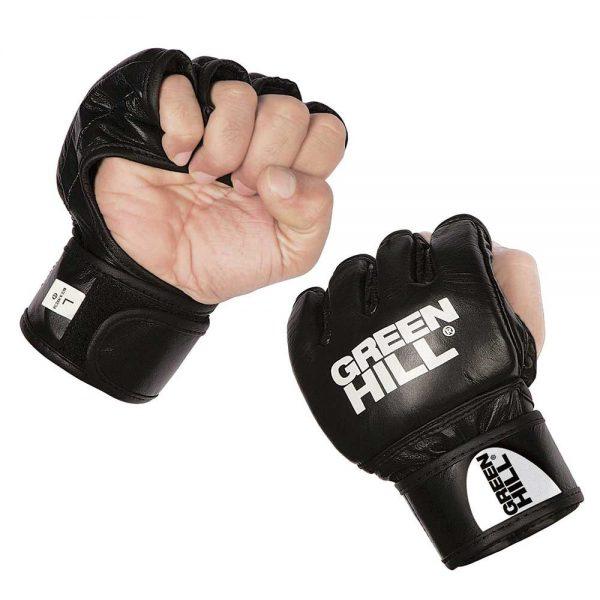 MMA-0081 Перчатки MMA чёрные Green Hill