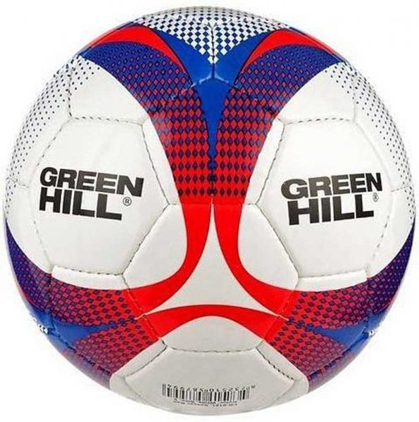 FB-9121 Мяч футбольный бело-сине-красный Green Hill