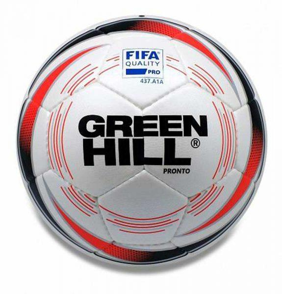 FB-9157 Мяч футбольный Pronto одобрен FIFA белый с рисунком Green Hill
