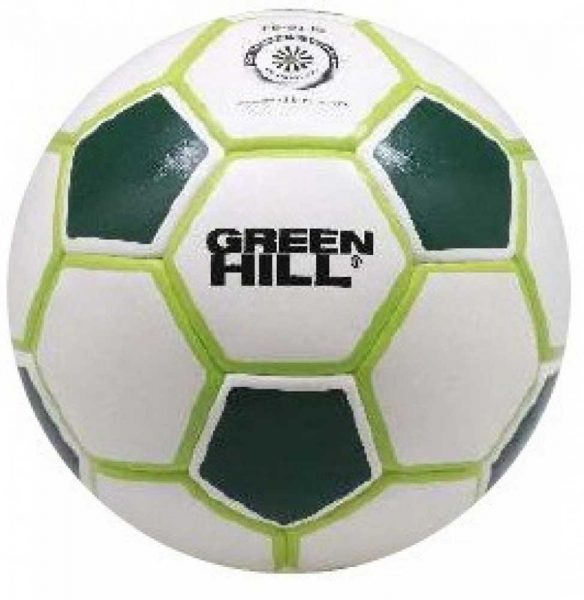 FB-9130 Мяч для минифутбола бело-зеленый Green Hill