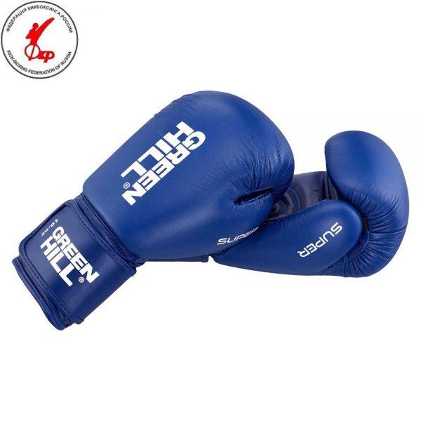 BGS-2271LR Боксерские перчатки SUPER красный/синий Green Hill