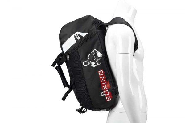 SBBP-582B Спортивная сумка-рюкзак BOXING черная нейлон Green Hill