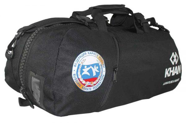 KBP17700 Сумка-рюкзак трансформер Каратэ черная Khan