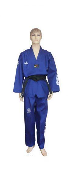TA1045N Форма для тхэквондо (добок) Seoul Blue синий Daedo
