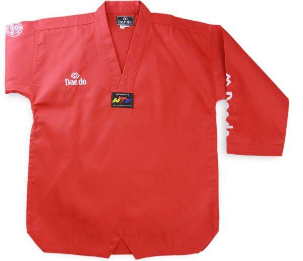 TA1045R Форма для тхэквондо (добок) Seoul Red красный Daedo