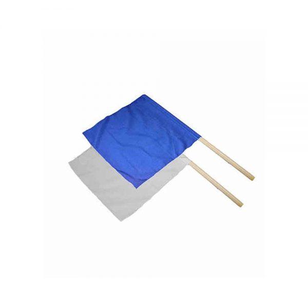 H944W Флаг судейский белый/синий KHAN
