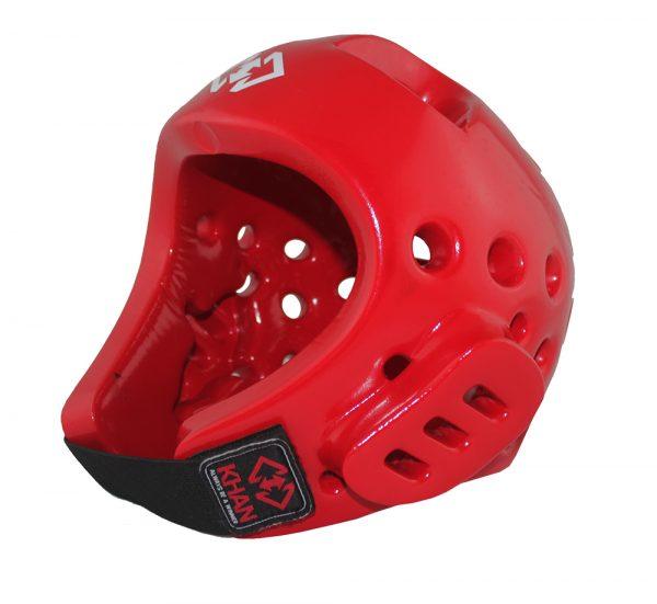 E1106803 Защита головы (шлем) для тхэквондо Club красный Khan