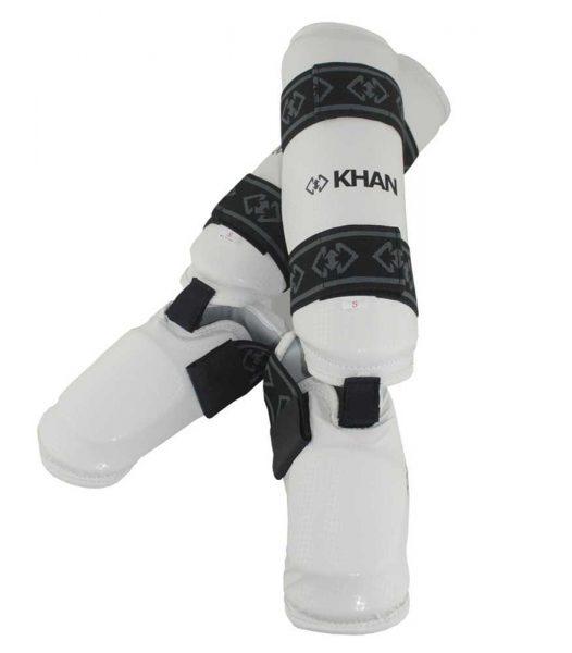 E15850 Защита голени и стопы для единоборств белая KHAN