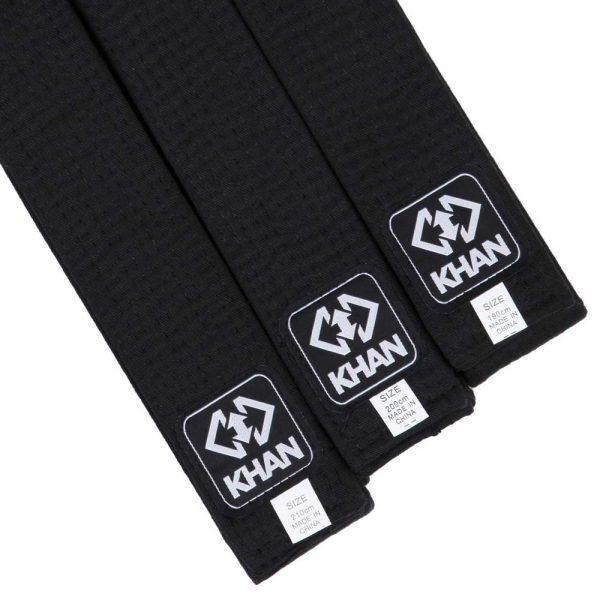 ITFBB2200 Чёрный пояс для единоборств ITF KHAN