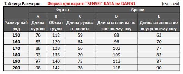 """KA1151 Форма для карате """"SENSEI"""" KATA тм DAEDO"""