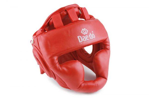 PR 1589 Защита головы (шлем) для ММА красный/черный DAEDO