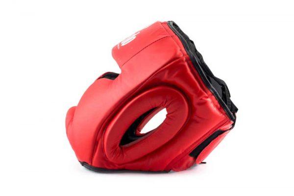 PR 1590 Защита головы (шлем) для ММА натуральная кожа красный DAEDO