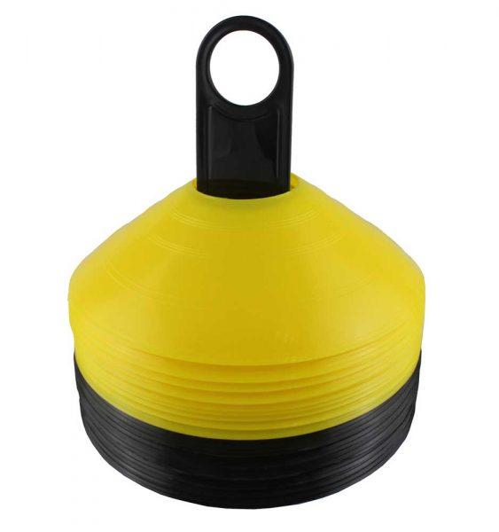 812114201 Тренировочный конус - фишка желтый и черный Khan