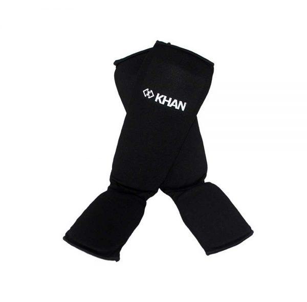 SAG23000 Защита голени и стопы для единоборств чулочная черная KHAN