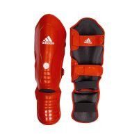 ЗАЩИТА ГОЛЕНИ И СТОПЫ ADIDAS WAKO SUPER PRO SHIN INSTEP GUARDS КРАСНАЯ/СИНЯЯ