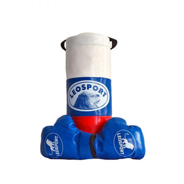 """Детский боксерский набор """"Львенок"""" Леоспорт для начинающего спортсмена мешок+перчатки № 1"""