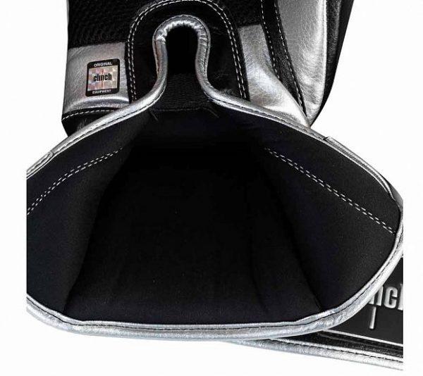 Перчатки боксерские Clinch Punch 2.0 черно-серебристый