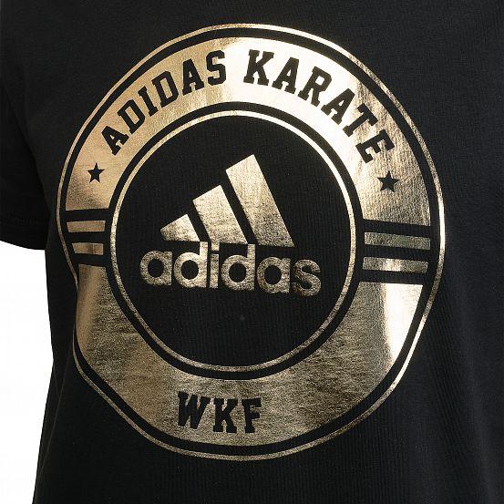 Футболка Adidas Combat Sport T-Shirt Karate черно-золотая хлопок