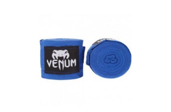 Бинты боксерские Venum Kontact 4m Blue Хлопок