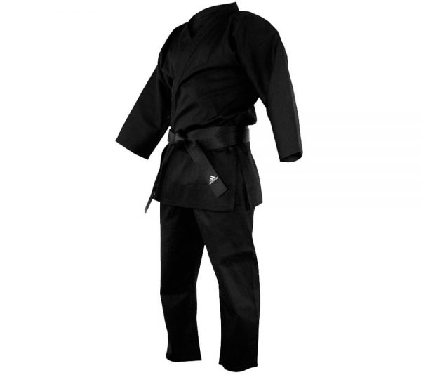Кимоно для карате Adidas Bushido черное ( хлопок, полиэстэр)