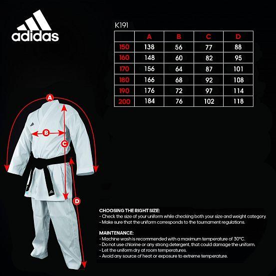 Кимоно для карате кумитэ AdiLight WKF Adidas белое полиэстер