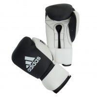 Перчатки боксерские Adidas Glory Strap Professional кожа черно-белые