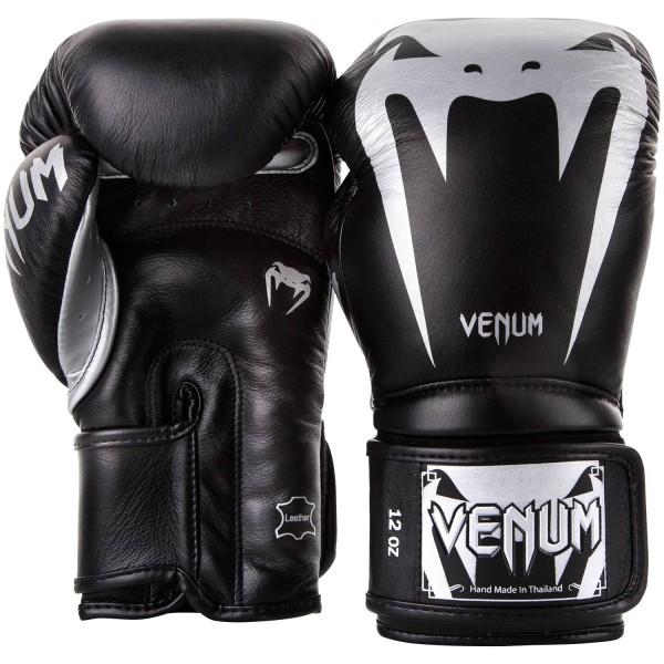 Перчатки боксерские Venum Giant 3.0 Black/Silver Nappa Leather