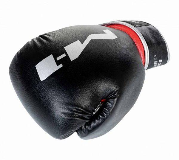 Перчатки боксерские Clinch M1 черно-красно-серебристые