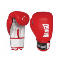 Перчатки боксерские Kango BMK-004 Red/White PU