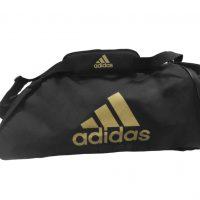 Сумка спортивная Adidas Sports Bag Shoulder Strap Combat черно-золотая