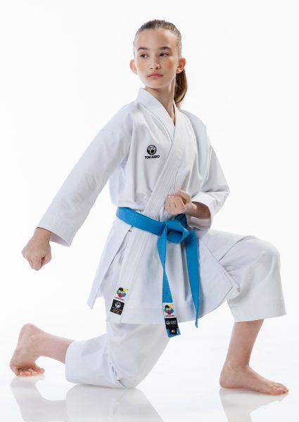 ATCJU Кимоно Кумитэ Мастер Junior Tokaido WKF 8 унций, белое