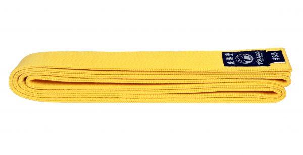 Пояс для единоборств TOKAIDO желтый