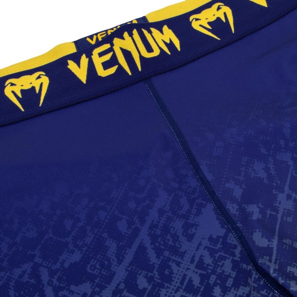 Компрессионные штаны Venum Tropical Blue/Yellow