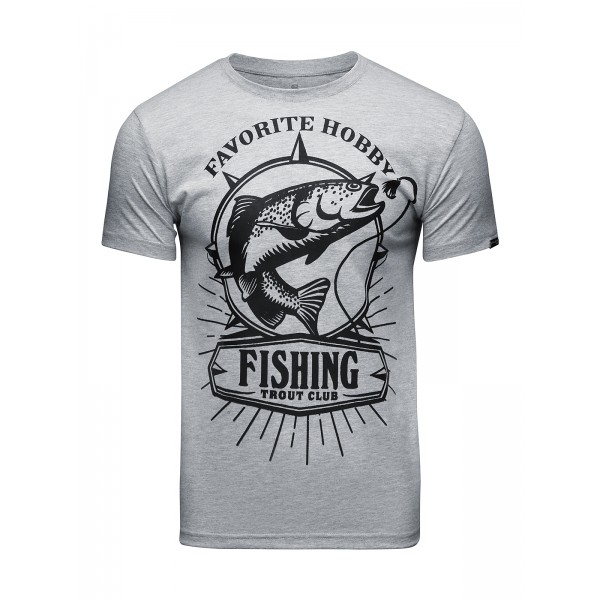 Футболка Athletic pro. Fishing Gray