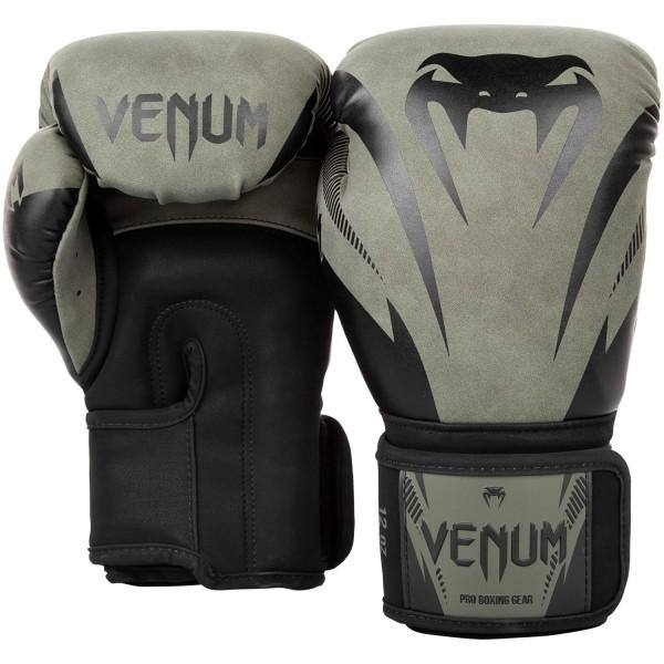 Перчатки боксерские Venum Impact Khaki/Black