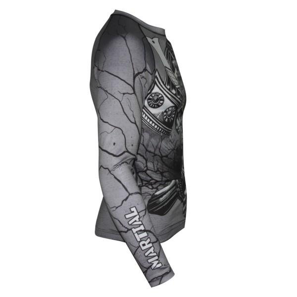 Рашгард Athletic pro. Samurai Skull Grey MRG-120